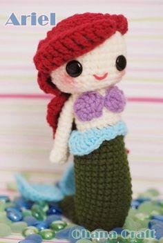 Ariel crochet amigurumi PDF pattern by OhanaCraftAmigurumi on Etsy, $6.00