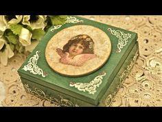 Decoupage krok po kroku - szkatułka z różami - YouTube