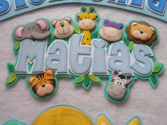 nombre con animalitos Drake Drizzy, Baby Shawer, Ideas Para Fiestas, Baby Party, Happy Kids, Baby Shower Cakes, Baby Room, Diy And Crafts, Banner