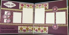 Super Stamping Diva - Ivy Lane layout with hexagons