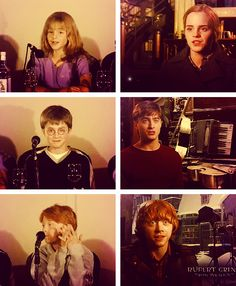 Emma Watson, Daniel Radcliffe, and Rupert Grint at interviews 2001/2011.