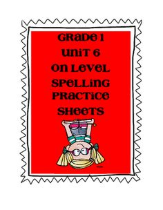 These are sheets to help review the on level spelling words for Unit 6. This packet includes a sheet for ABC order and three different sorts based on the weekly list. Your students can write the words in the boxes or cut the words and glue them in the boxes.