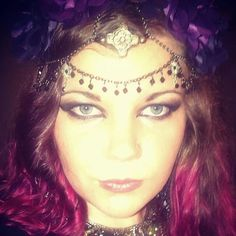 Bohemian Headpiece - Gothic - Darkness - Tribal - Belly Dancer - Gypsy - Recycled <3 Jenna Lee, Bohemian Headpiece, Native Australians, Australian Birds, Belly Dancers, Handcrafted Jewelry, Jewelry Crafts, Darkness, Septum Ring