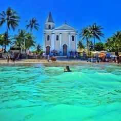 Praia das Campas in Tamandaré, PE Brazil Vacation, Vacation Spots, Brasil Travel, Places To Travel, Places To See, Places Around The World, Around The Worlds, Go Brazil, Brazil Beaches