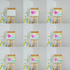 See an abstract painting evolve from start to finish!