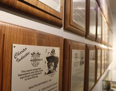 Our Hall of Fame Plaques, celebrating some of the greats in racing.