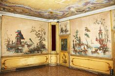 Palazzo Coccina Tiepolo Papadopoli I Valery Toth Chinoiserie Wallpaper, Chinoiserie Chic, Oriental Wallpaper, Decorative Panels, Decorative Paintings, European Paintings, Architectural Antiques, Wall Art Designs, Fresco