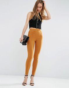 Image 1 of ASOS High Waist Pants In Skinny Fit