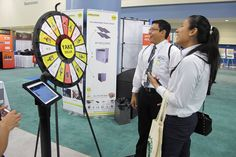 Visit us @MiaGreenExpo on Feb 11&12, 2015. Miami Airport Convention Center BOOTH #611 Play and Win on our Prize Wheel. Buy this Prize Wheel at http://PrizeWheel.com/products/floor-prize-wheels/floor-table-black-clicker-prize-wheel-18-slot/.