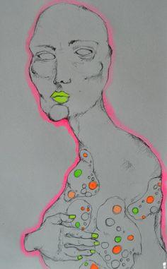 """~ La Flora Intestinale. """" C'era una volta un uomo come tanti. Quale fosse il suo nome, che aspetto avesse il suo viso, quali imprese compì mentre era in vita – tutto ciò non ci interessa. Molto più importante è invece quello che avvenne all'interno del suo corpo. Quando quest'uomo nacque conobbe un mondo brulicante di batteri.""""  ▶Schizzo. ▶Acquarello su carta.  °ArtBook. #Art #Passion #Life #ArtEli"""