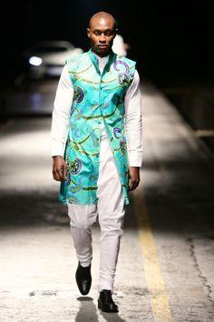 David Tlale alongside Vlisco Mercedes Benz Fashion Week