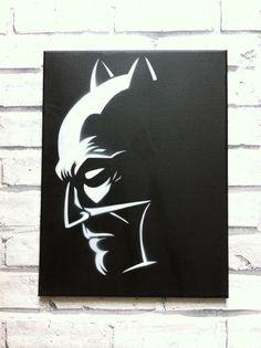 Batman inspired canvas by PressStartArtwork on Etsy