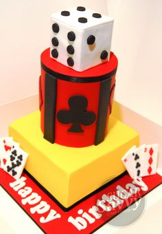 Casino themed cake