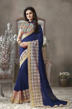 New party wear georgette saree