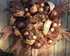 Etsy Copper Christmas Wreath