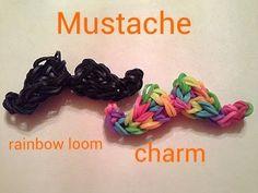 Mustache Rainbow Loom Charm
