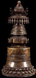Stupa (Buddhist Reliquary) (Himalayan Art) Stupa (Buddhist Reliquary) (item no. 65233) Tibet Metal Collection of Rubin Museum of Art