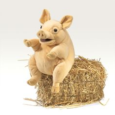 Stuffed Pig Puppet By Folkmanis Puppets