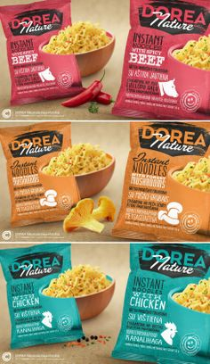 Dorea Nature packaging restyling. Designed by Vytenis Petrusevičius / CTM (Creative Trade Mark). Lithuania.