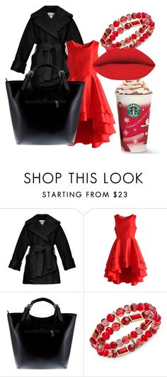 """""""Ms. Clause On Her Way"""" by jayla-baby ❤ liked on Polyvore featuring beauty, Carven, Chicwish, Massimo Castelli and Charter Club"""