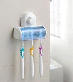 Prático plástica escova Spinbrush sucção titular estande casa de banho acessório 5 posição frete grátis em Conjunto de banheiro de Casa & jardim no AliExpress.com   Alibaba Group