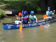 Jim Fisher. Head of Toynbee Hall Legal Aid and Stepney Children's Fund Treasurer. Canoe sponsored by his family..