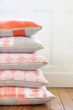 rebecca Atwood pillows Linen Pillows, Decorative Pillows, Throw Pillows, Accent Pillows, Home Textile, Textile Design, Home And Deco, Soft Furnishings, Cushion Covers