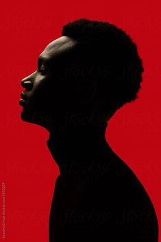 African American man portrait silhouette isolated over red background - Black / Red Creative studio portrait. Profile Photography, Studio Portrait Photography, Photographie Portrait Inspiration, Foto Portrait, Portrait Studio, Man Photography, Digital Photography, Man Portrait, Portrait Ideas