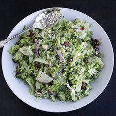 Shaved Broccoli Salad by tasteloveandnourish #Salad #Broccoli