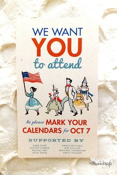 Vintage Americana Baby Shower Invitation