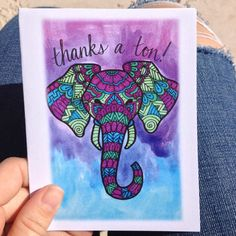 Thank You Card Thanks a ton by PaisleyandHazel on Etsy