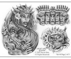 Tattoo Flash Disenos Aztecas Para Tatuajes Diseno