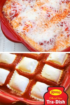 Baked Ravioli, with just three ingredients?Yes-sir-ee-BOB! It's a casserole-style take on an Italian classic, from Hott Mama In The City. All this dinner recipe needs is a bag of frozen ravioli, some shredded mozzarella, and that delicious taste of Ragú Sauce. You'll be exploring a whole new world of fast flavor in no time!