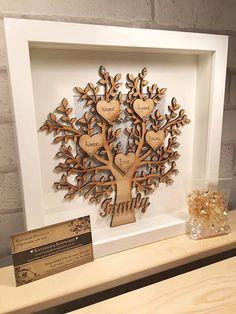 Family tree frame / wooden family tree / by Kayleighskeepsake