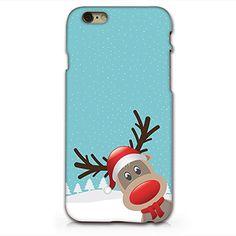 Cute Reindeer Merry Christmas Plastic Phone Case for iphone 6 6s_ SUPERTRAMPshop (VAS285) SUPERTRAMPshop