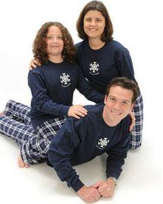 Winter SNOWFLAKE Love Your Family Matching Christmas Pajamas
