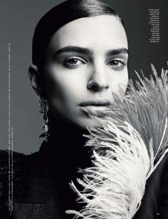 Emily Ratajkowski wears slicked back coif for LOVE Magazine July 2016 issue