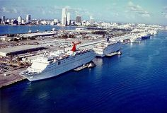 Miami, Florida    This is not literally one of the oldest shipping ports but is one of the largest and most beautiful cruise ports which has been serving and accommodating the top of the leagues cruise ships, sailed between the Bahamas and the Caribbean.