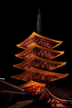 Temple at Night #Tokyo #Japan