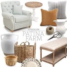 A collection of Alfresco Emporium products to get the Patina Farm look. Decorating Tips, Interior Decorating, Patina Farm, Floating Flowers, Property Design, Kitchen Items, Unique Furniture, Coastal Living, Table Centerpieces