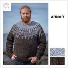 ARNAR - Garnmani.no - Spesialist på islandsk garn Ravelry, Men Sweater, Knitting, Sweaters, Black, Design, Diy, Fashion, Men