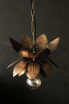 Brass Flower Ceiling Light 120