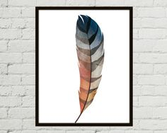 Watercolor Feather Watercolor Feather Print by MissellaneousPrints