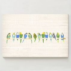 Birch Print - Parakeets on Branch #westelm