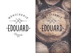 Brand new Logo design based on typo for a carpenter in south of France.