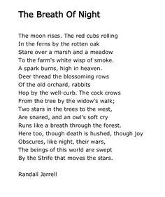 Randall Jarrell, The Breath of Night