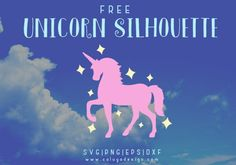 Unicorn Silhouette Free SVG, PNG, DXF & EPS DOWNLOAD