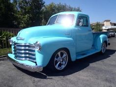 love, want...; 1953 Blue Chevrolet 3100 Pickup Truck