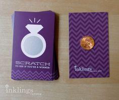 24 Rich Purple Bridal Shower Scratch Offs by Inklings Paperie via. Etsy