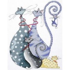 Cat Pack Counted Cross Stitch Kit-10                                                                                                                                                                                 Plus